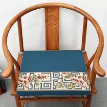 Patchwork Jacquard Vintage espesar cojín de asiento chino Silla de comedor sillón antideslizante almohadilla de asiento algodón Lino cojines asientos