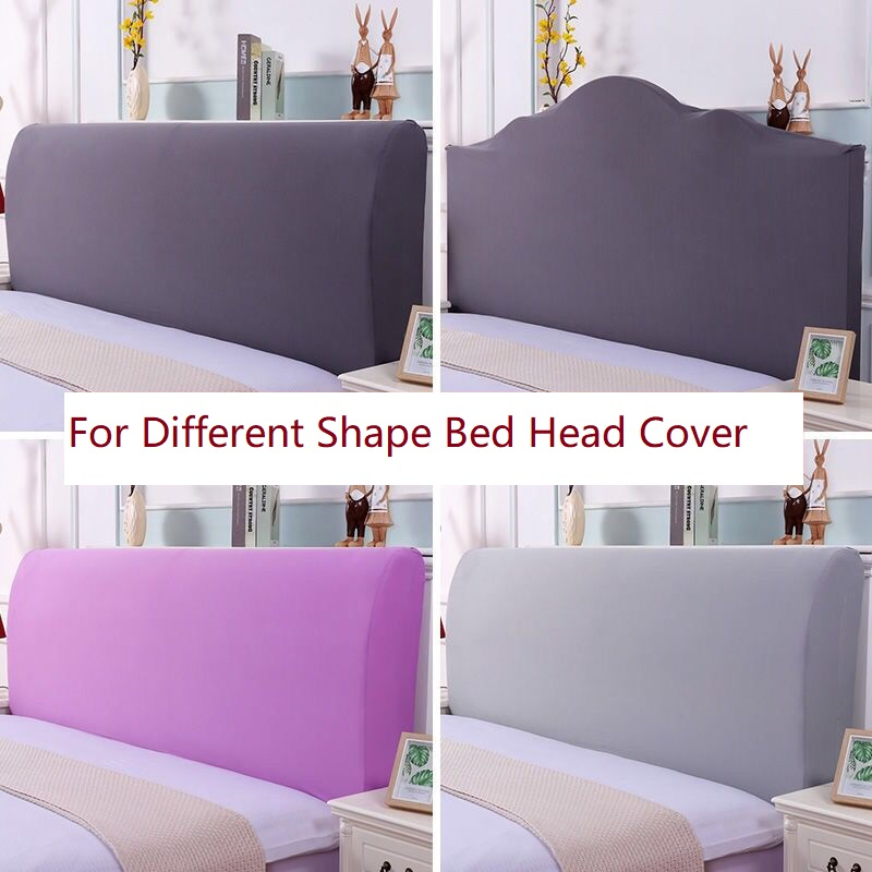 Elastic All-inclusive Bed Head Cover European Solid Color Bed Head Back Protection Dust Cover Plain Soft Headboard Cover