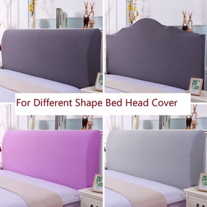 Elastic All-inclusive Bed Head Cover European Solid Color Bed Head Back Protection Dust Cover Plain Soft Headboard Cover(China)