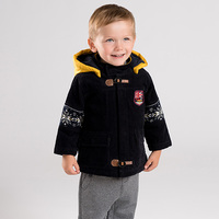 DB12014 dave bella winter baby boy cotton clothing jacket children fashion outerwear kids hooded coat