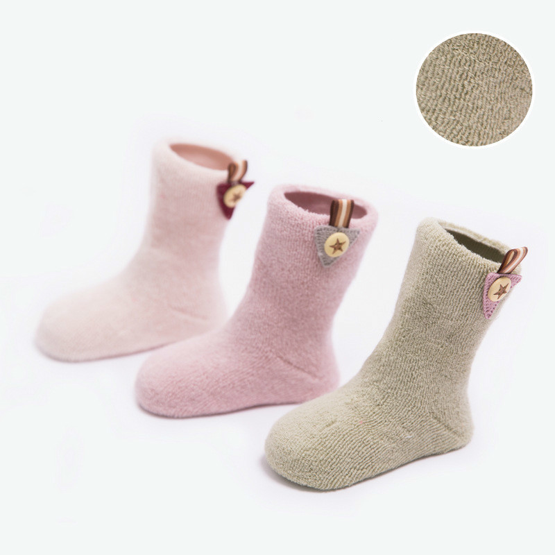 Thickening High 0 3 Year 3Pares Baby Socks Wholesale From Children Towel Woolen Circle Boys HOSE Children Baby Socks Newborn in Socks from Mother Kids