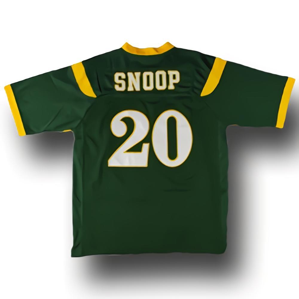 Snoop Dogg футболка #20 Нейтан Хейл школьная вышитая зеленая S 3XL Джерси для