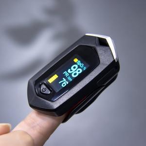 Image 3 - אצבע דופק Oximeter SpO2 דופק חיישן חמצן בדם רוויה צג עם תיק נשיאה ושרוך ליתיום סוללה
