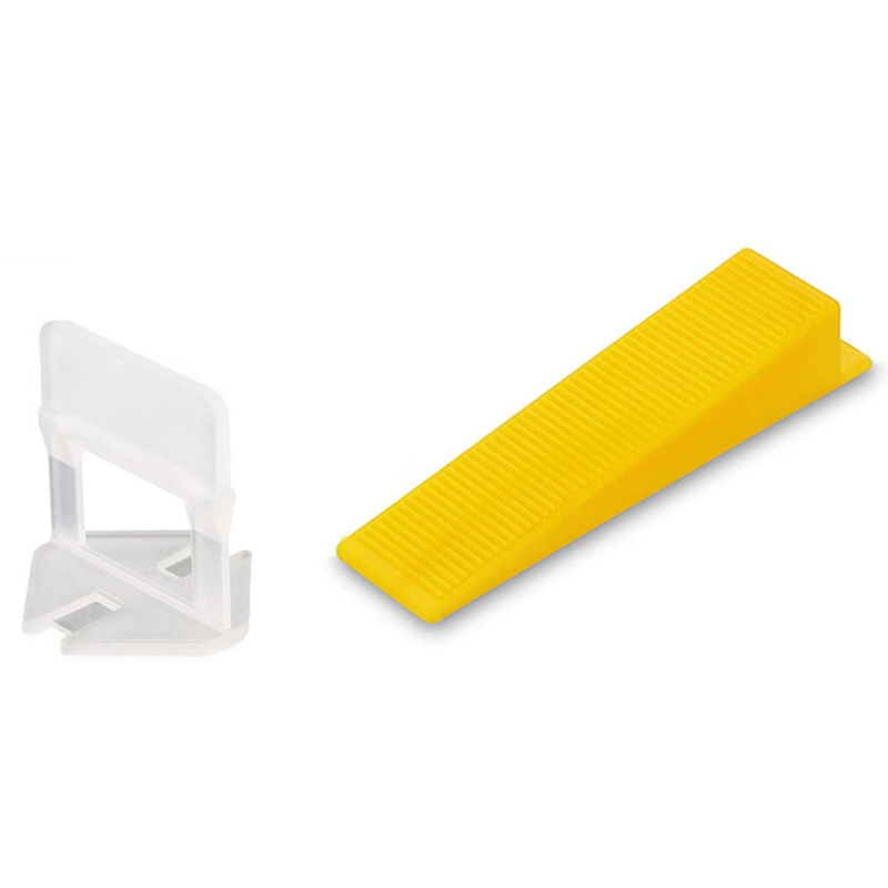 WSFS Hot Tile Leveling System Tiles Leveler Spacers Tile And Stone Installation Leveling Spacer Clips Reusable Wedges 1/16 Inch