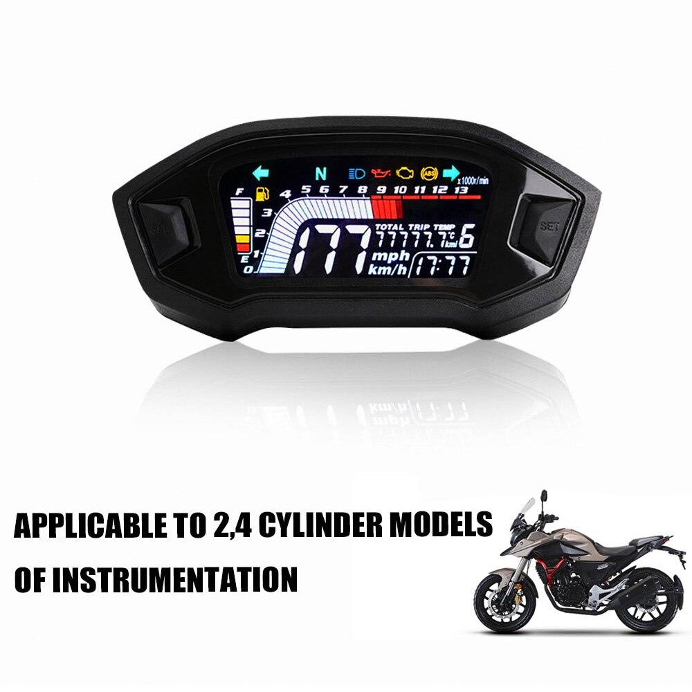 Мотоцикл спидометр одометр для 1,2,4 цилиндра опционально подсветка Тахометр приборной панели мотоцикла цифровая панель Универсальная