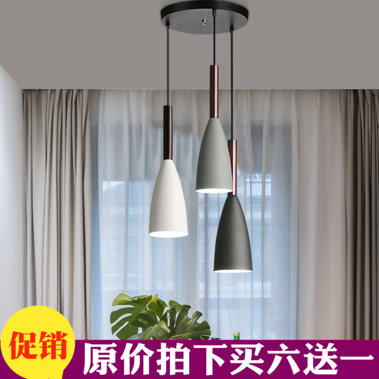 A Chandelier Personality Originality Display Window Café Modern Concise Three Head Restaurant Bar Counter A Chandelier Have