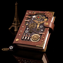 New European Retro Notebook Personality Creative Notebook Steampunk Hand Book Loose-leaf Retro Hand Book Notepad Leather Diary