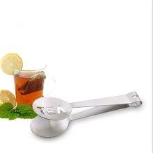 Многоразовые щипцы для чайных пакетиков из нержавеющей стали, чайный пакетик, соковыжималка с ситом, держатель, металлическая ложка, мини-зажим для сахара, ситечко для чайных листьев
