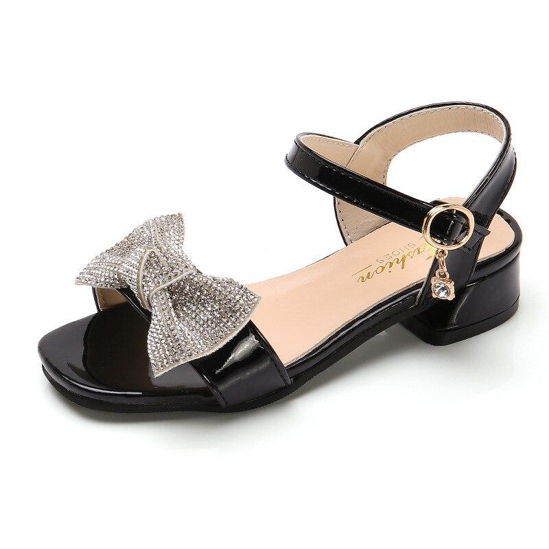 Summer Fashion Girls Sandals Kids Shoes Big Girl high heels Princess Shoes Kids Sandals chaussure fille 4T 5T 6T 7T 8T 9T-14T