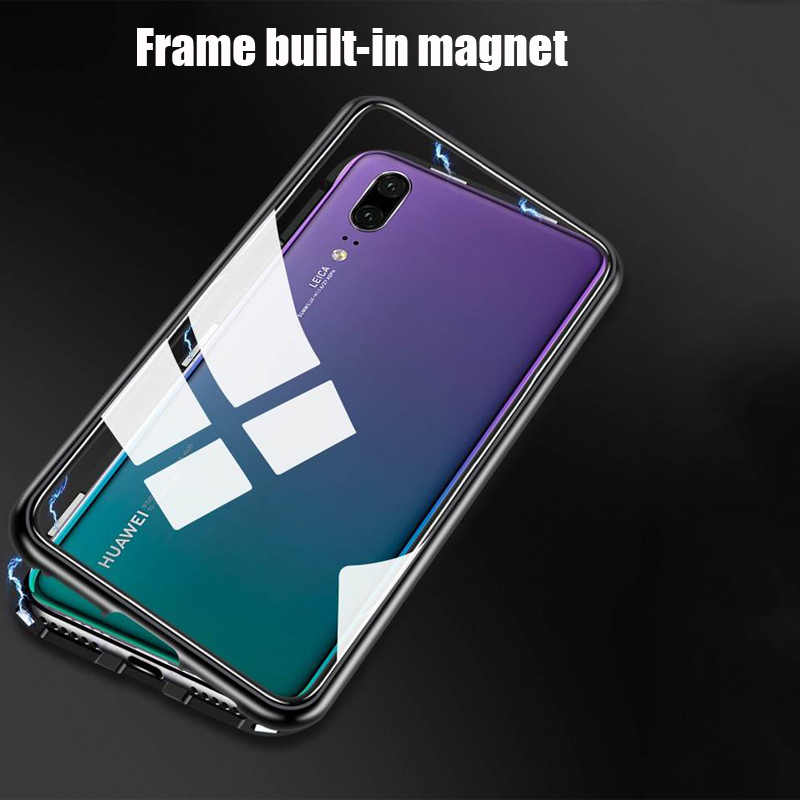 Магнитный металлический корпус адсорбции для huawei P30 P20 mate 20 10 Lite pro Nova 3 3i 4 5 Honor 8X10 Lite 20 Y7 Y9 P smart 2019