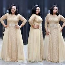 Lace sequins African costume round neck sleeves party dress banquet fashion elegant openwork sexy high quality