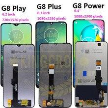 Para moto um macro g8 jogar g8 mais g8 power display lcd tela de toque xt2019 xt2015 digiziter assembléia para motorola g8play g8plus