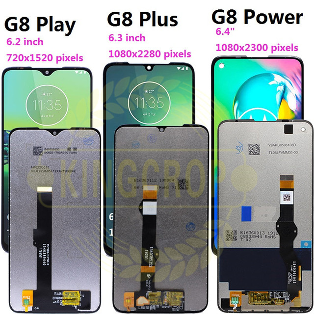עבור moto אחד מאקרו g8 לשחק G8 בתוספת G8 כוח LCD תצוגת מסך מגע XT2019 xt2015 Digiziter עצרת עבור מוטורולה g8Play G8plus