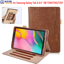 Tablet Case for Samsung galaxy tab A 8 0 SM-T295 T290 T297 2019 stand PU leather Case For Samsung galaxy tab A8 0 2019 T295 T297 cheap NoEnName_Null Protective Shell Skin Solid Fashion Drop resistance Anti-Dust Shockproof Magnetic Ultra slim no auto wake sleep