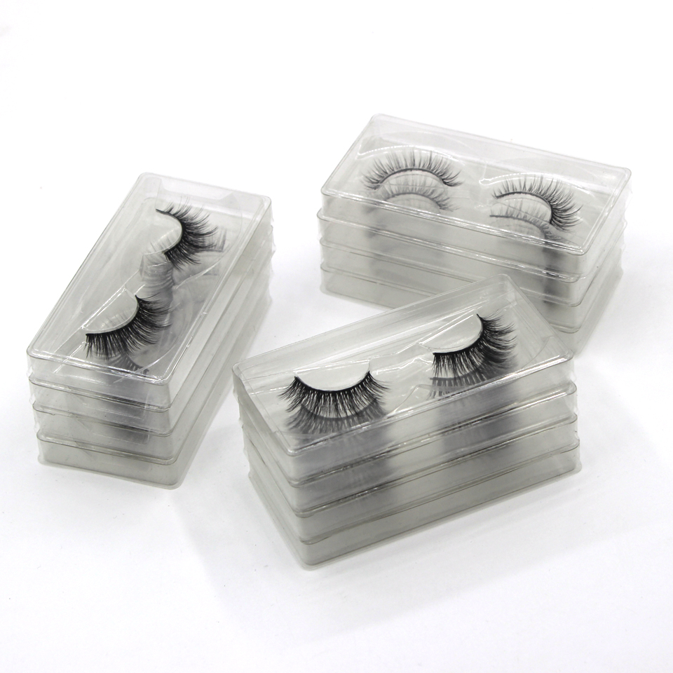 DamePapil 10/20/30/50/100 Pairs Faux Mink Eyelashes Bulk 12/14/16mm Natural Hand Made Makeup Wholesale Lots Bulk Lash Bundles