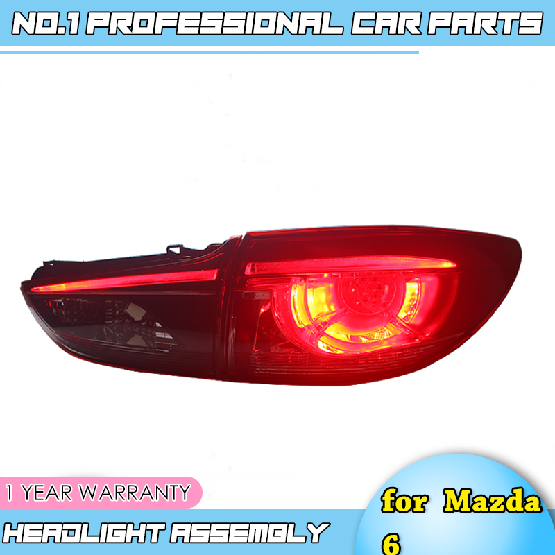 Car Styling for Mazda 6 Taillights 2014 2015 2016 New Mazda 6 LED Tail Light LED Rear Lamp DRL+Brake+Park+Signal