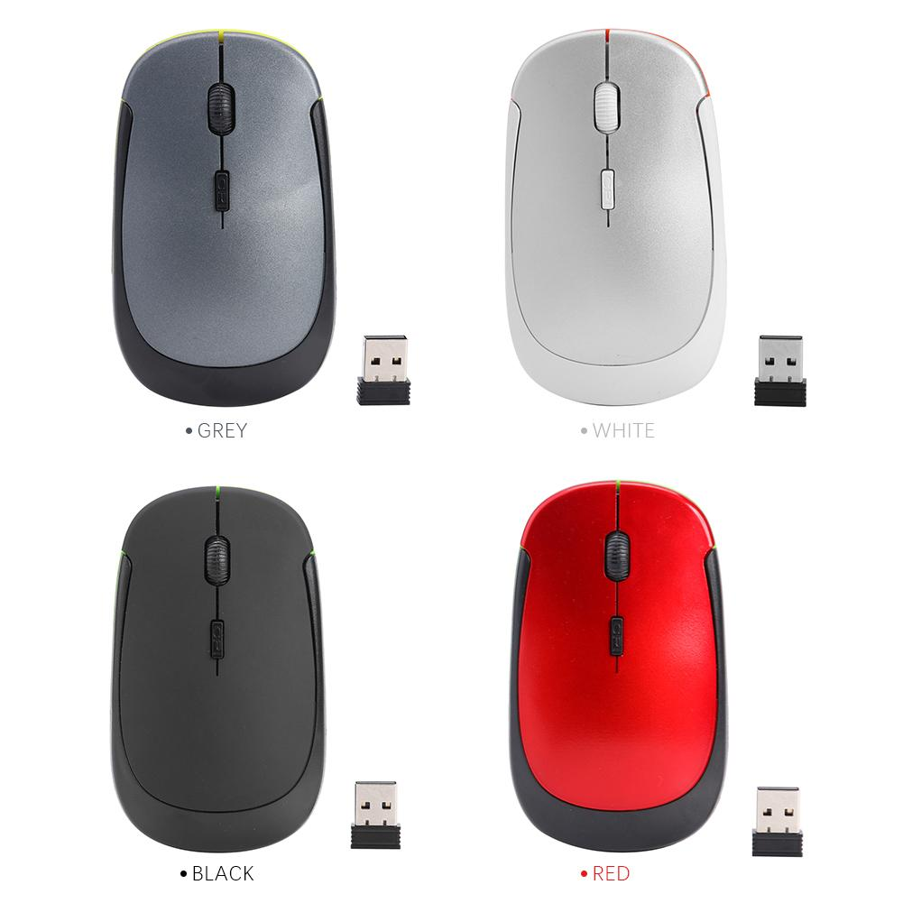 Ultra Thin 2.4G Mouse 2.4GHz Wireless Gaming Mouse USB Receiver Pro Gamer For PC Laptop Desktop