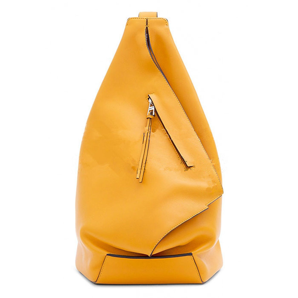[B-034] DIY handmade leather art ANTON style backpack travel bag pattern sample layout DIY Leather Bag Paper Drawing