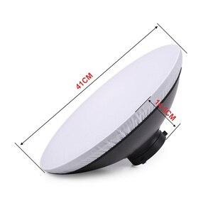 Image 2 - 41cm Beauty Dish Reflektor Strobe Beleuchtung für Bowens Berg Speedlite Photogrophy Licht Studio Zubehör