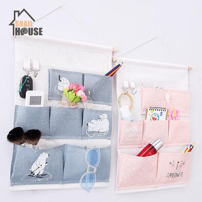 Snailhouse подвесная сумка для хранения, настенный шкаф, подвесная сумка для всякой всячины, хлопчатобумажные подвесные сумки для хранения