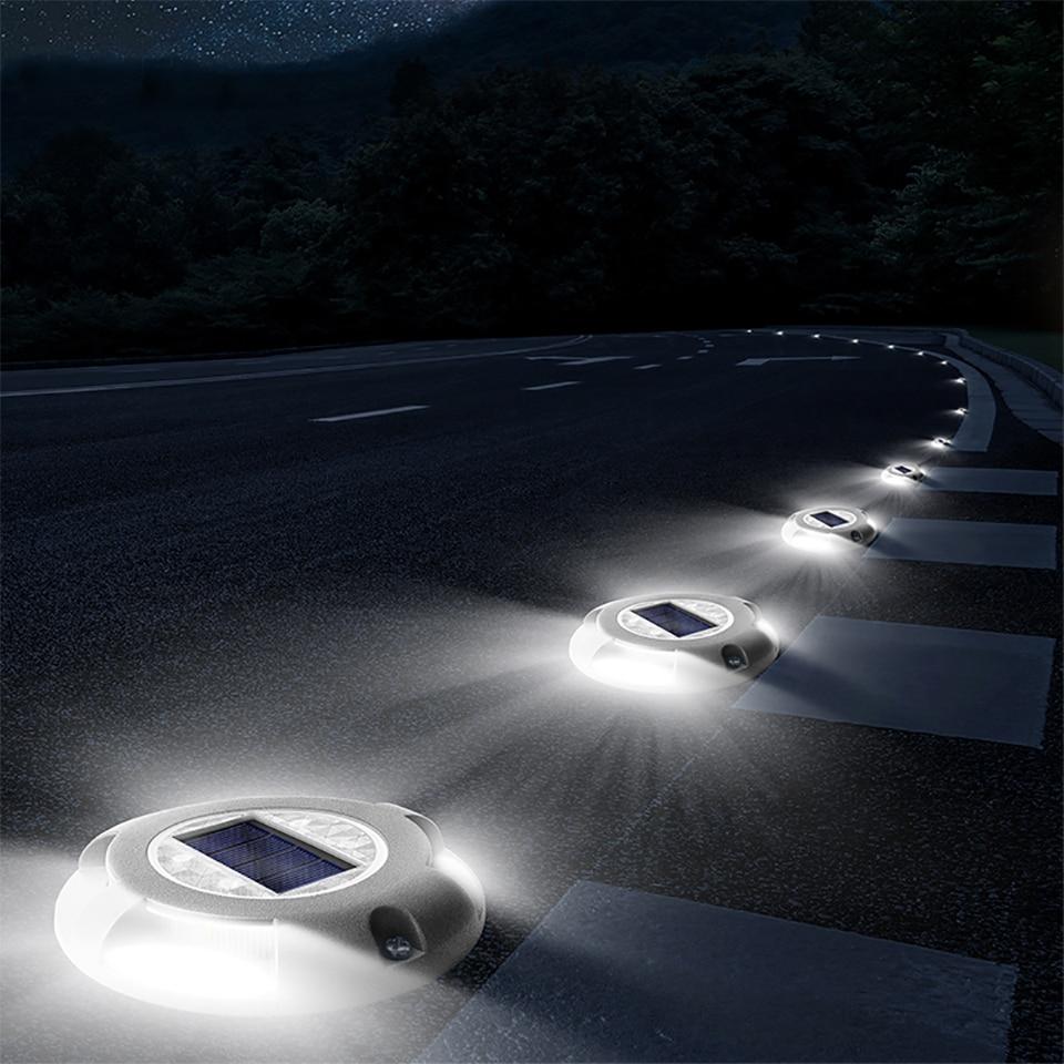 Outdoor Aluminum Led Solar Light Graden Led Solar Lamps Waterproof Solar Power Lawn Light For Sturdy Road Driveway Path Plaza