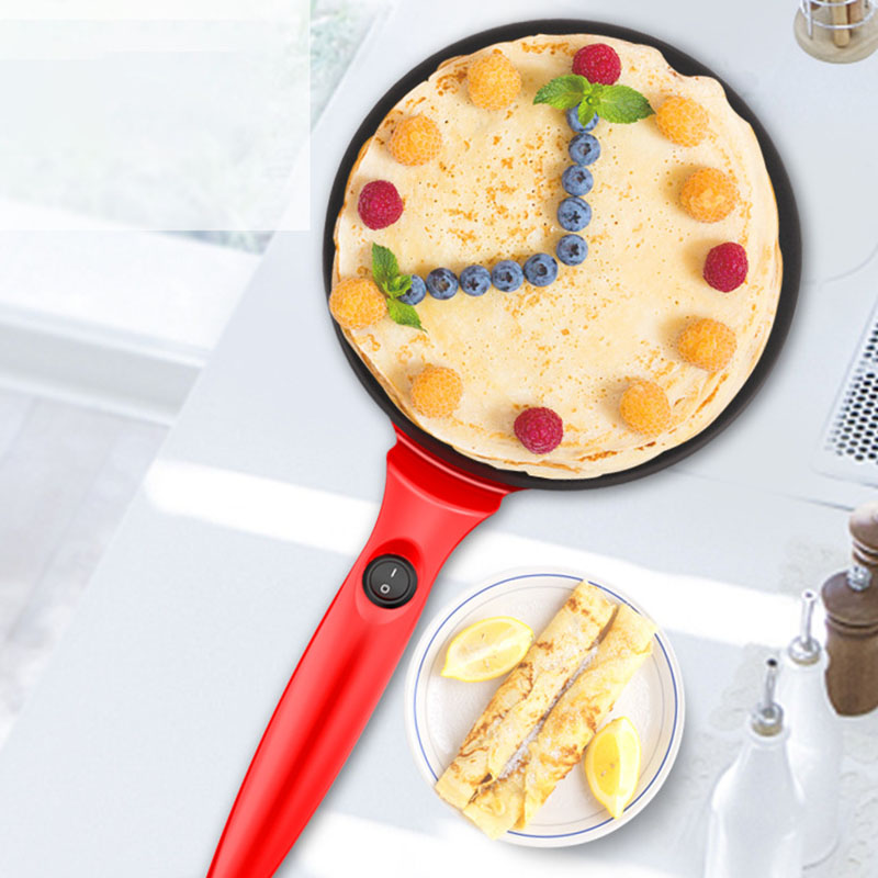 Omelet Pans Electric Round Non-Stick Pancake Maker Crepe Machine Frying Pan Pizza Baking Tools Making Pancake EU Plug