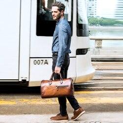 Dimy nowa torba podróżna z motywem krowy prawdziwej skóry męskie torby podróżne okrągłe wiadro w kształcie torby Totes Vintage torebki