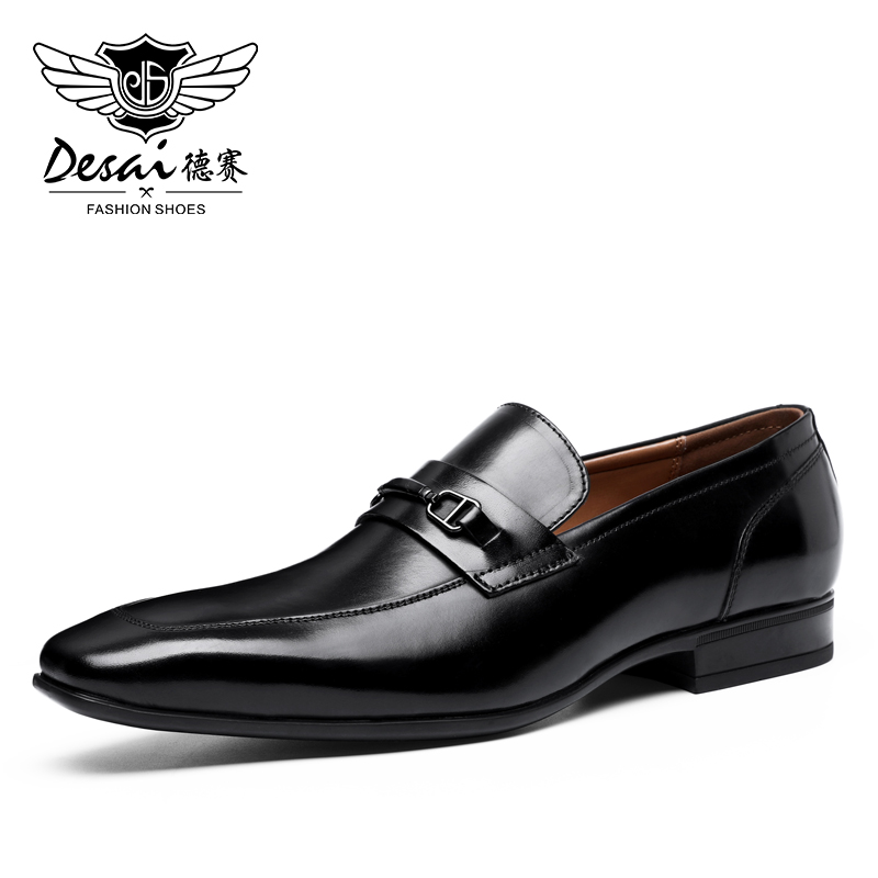 DESAI Lofers Luxury Men Loafer Shoes Fashion Slip On Man Flats Casual Shoes Mens Car Driving Shoes Italian Black