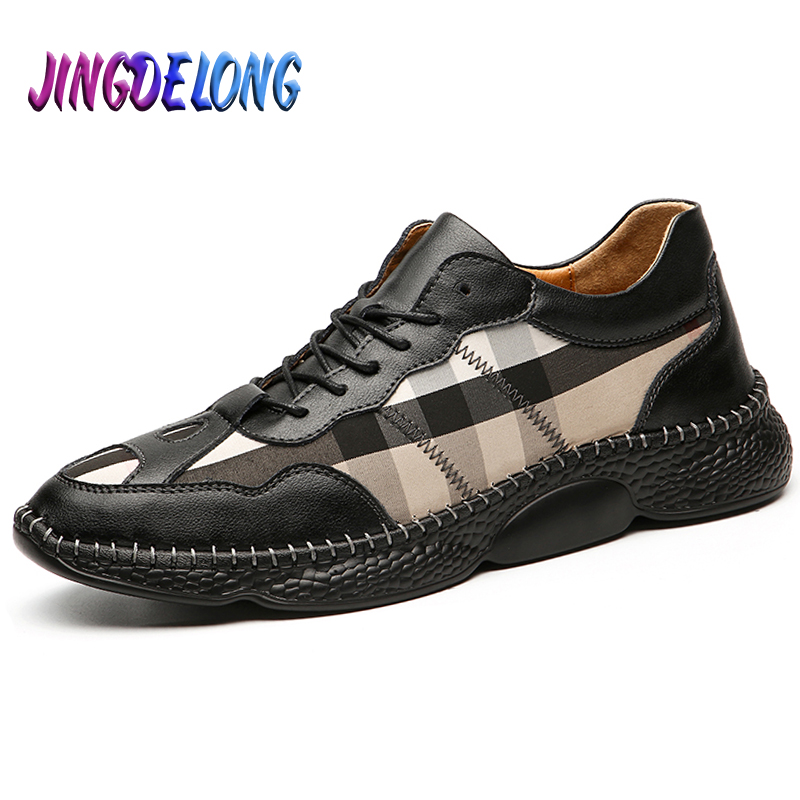 New Fashion Men's Casual Shoes Spring Autumn Mens Style Shoes Outdoor Leather Men's Business Dress Shoes Male Office Footwear