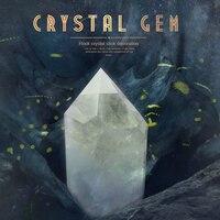De gran tamaño envío de la gota de cristal de cuarzo claro Natural de piedras preciosas punto Chakra de Sanación Reiki cristal de roca de cuarzo varita Decoración