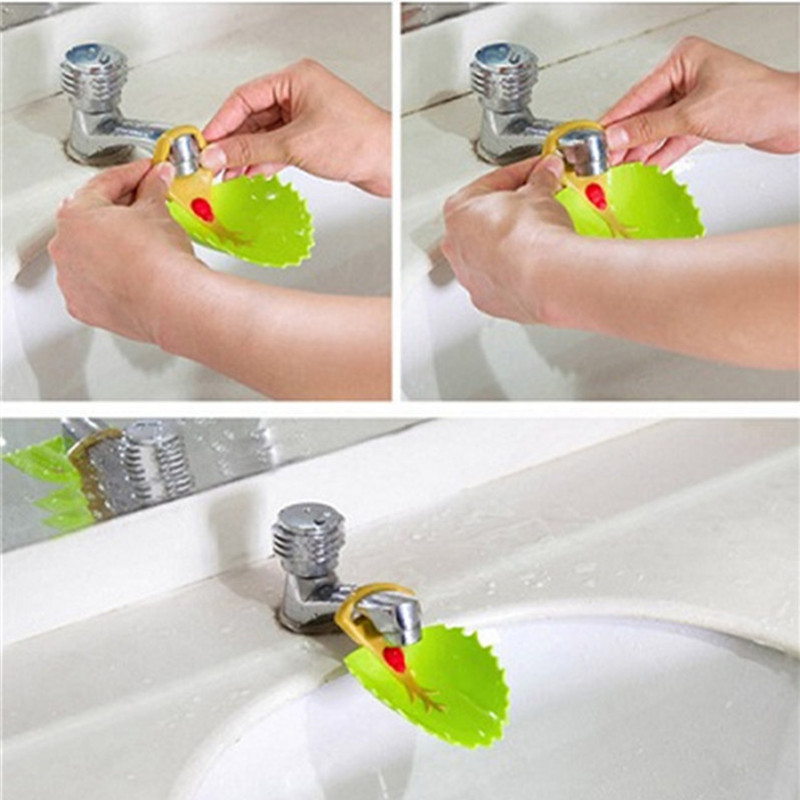 Family Cute Sink Baby Bath Tap Tree Bathroom Kitchen Faucet Extender For Family Washing Hands Wash Plastics Shampoo Cap