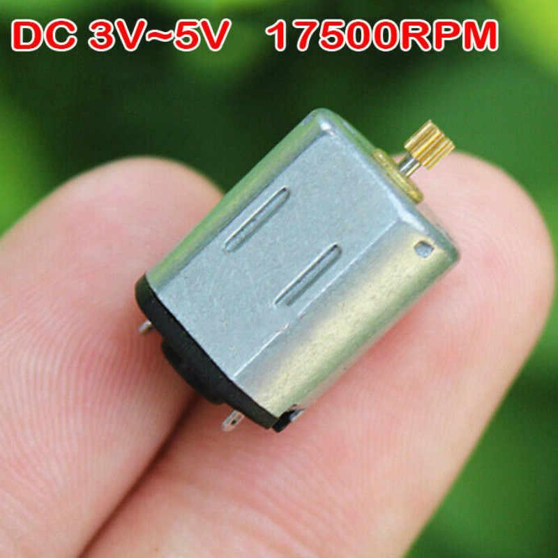 5PCS DC 1.5V 3V 4.5V 13000RPM High Speed Slient Mini DC Motor for Hobby Toy DIY