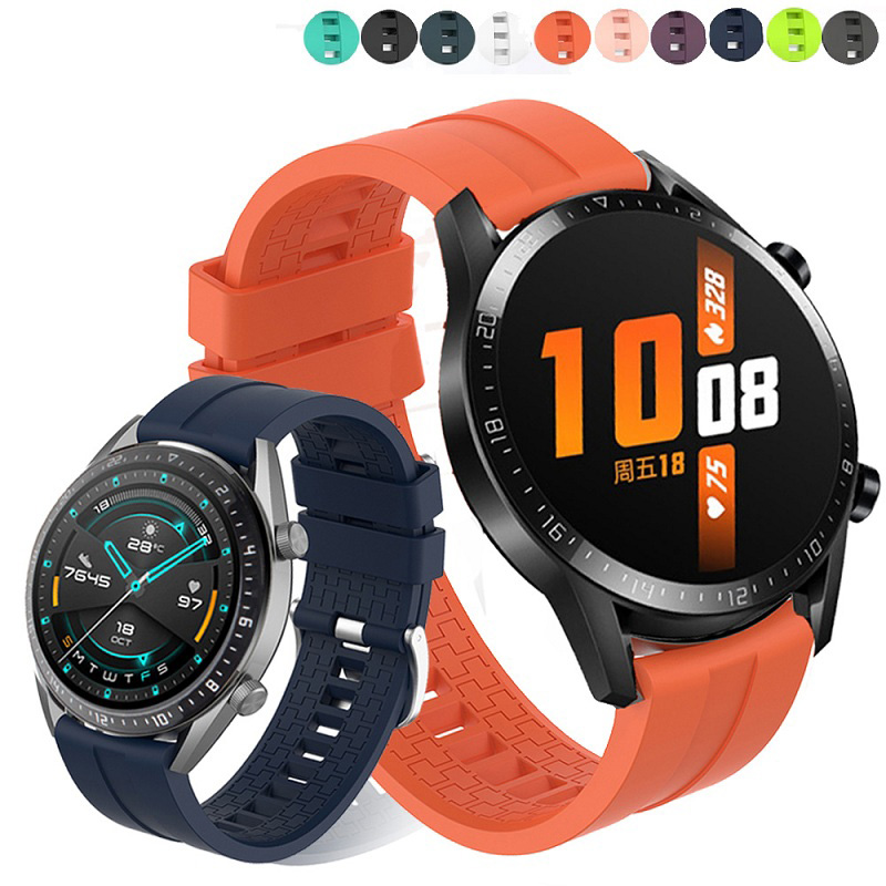Replaceable Watchbands For HUAWEI WATCH GT 2 46mm/GT Active 42mm/HONOR Magic Silicone Strap Band GT2 Official Style Bracelet