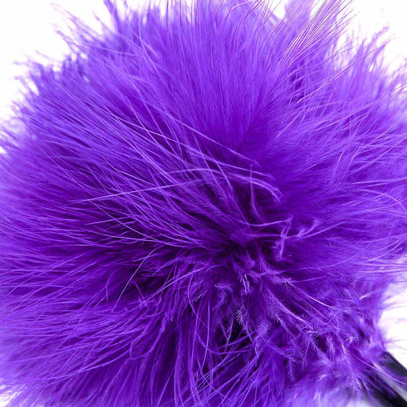 Мягкий Фиолетовый, плюшевый комплект кожаный для бондажа juegos Сексуальная стимуляция Секс-игрушки для пар взрослый SM раб игра Фетиш щекотка Teasing