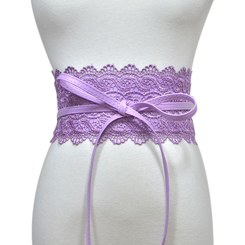 Women's Belt 7 Colors Optional Lace Lace Extra Wide Belt Sweet Belt Female Luxury Party Belt Wide Waist Seal