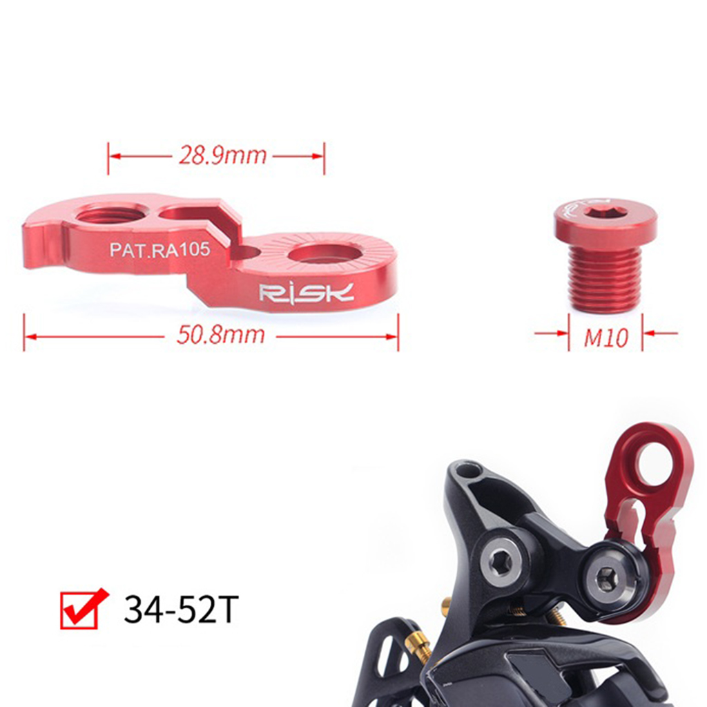MTB Road Rear derailleur extension tail hook 40T-50T Replacement Bicycle