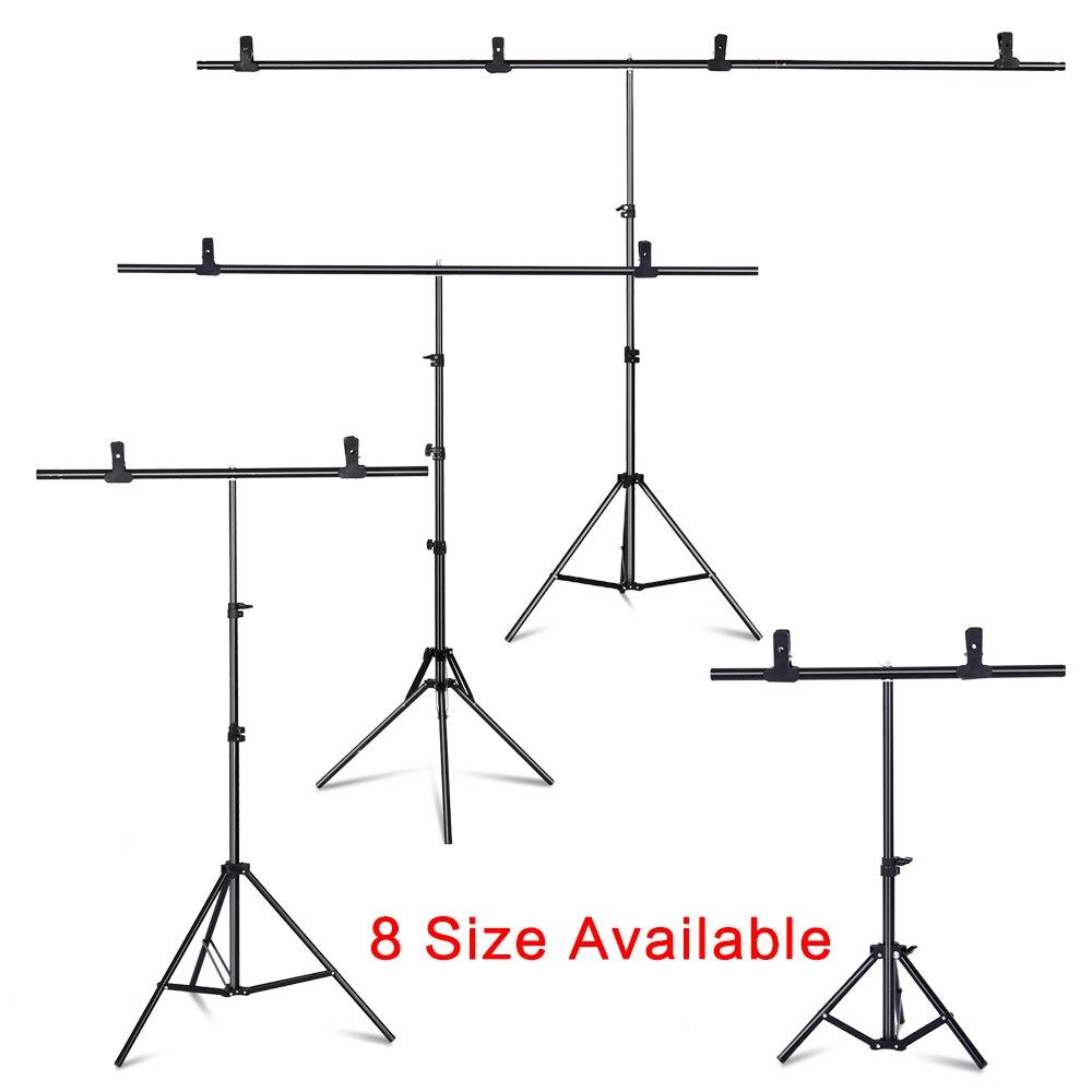 Kit de Support de toile de fond Portable en forme de T 6.5ft de large 6.5ft de haut Support de toile de fond réglable avec pinces à ressort