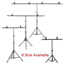 T образная переносная подставка для фона, регулируемая стойка для фона с пружинами, 6,5 фута, ширина 6,5 фута