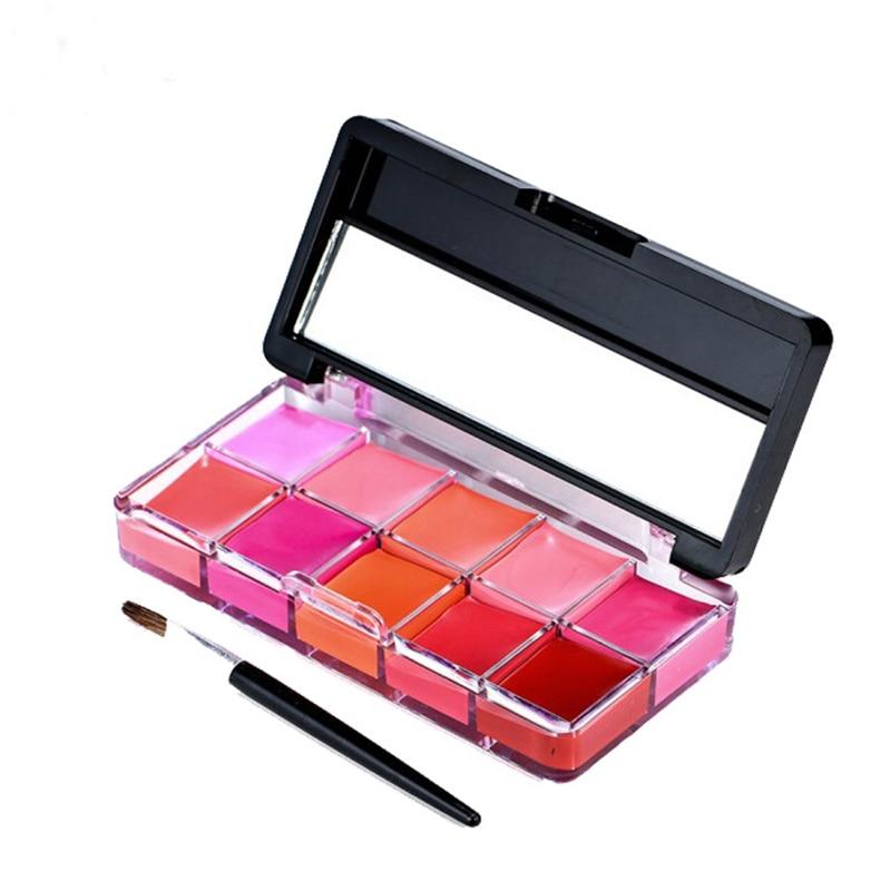 Lipstick Palette Lip Stick Cream Waterproof Batom Moisturizer Rouge Maquiagem Red Rose Beauty Makeup 10 Color Clearance