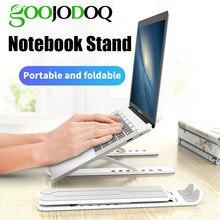 GOOJODOQ supporto per Laptop pieghevole regolabile supporto per Notebook da tavolo antiscivolo supporto per Laptop per Macbook Pro Air iPad Pro DELL HP