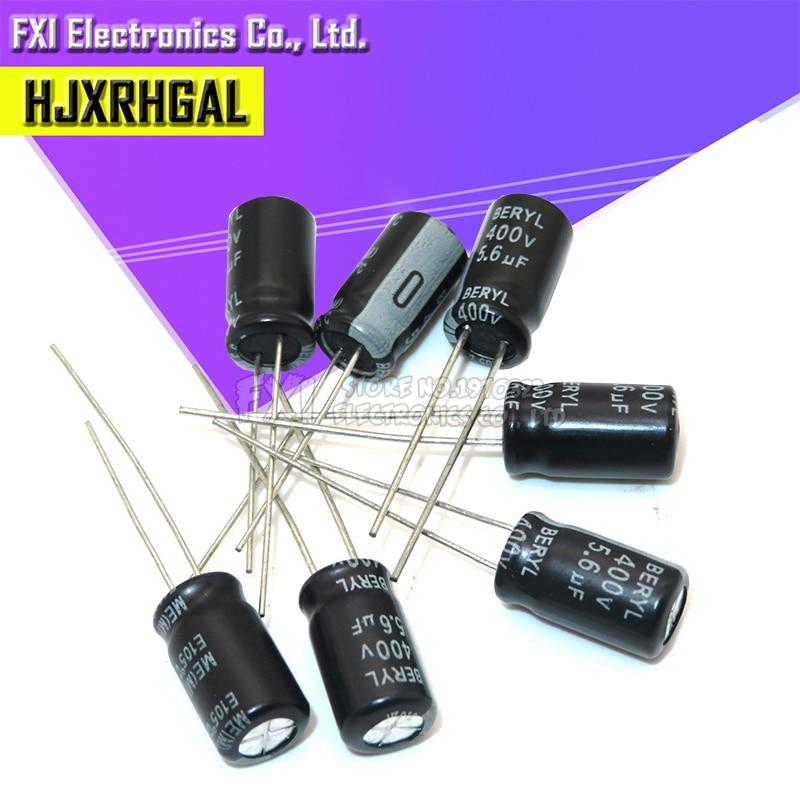 10PCS 400v5.6uf 400v 6x12 Electrolytic Capacitor 400v 5.6uf 6*12