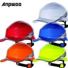 ANPWOO Diamond V Hard Hat Safety Helmet High Hi Vis Baseball Reversible Sticker Hat