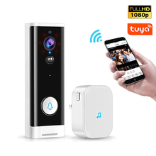 QZT Tuya Smart Doorbell Home WIFI Wireless Peephole Night Vision Camera Intercom Chime Security Motion Detector Video Door Bell