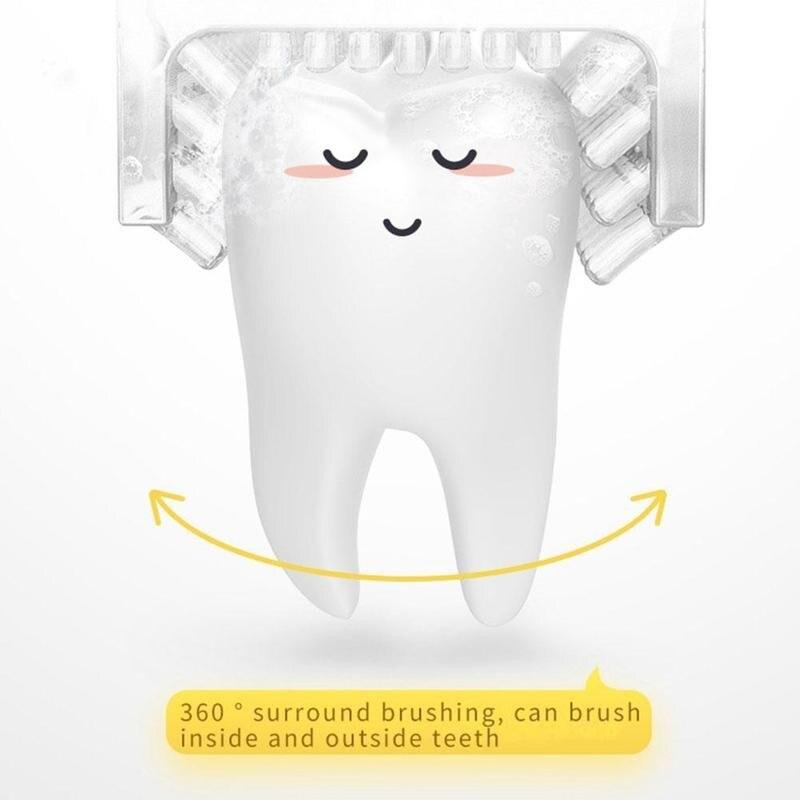 360-degree Sonic U-shaped Children Electric Toothbrush Silicon Automatic Ultrasonic Toothbrush Waterproof U Shape Lips Care