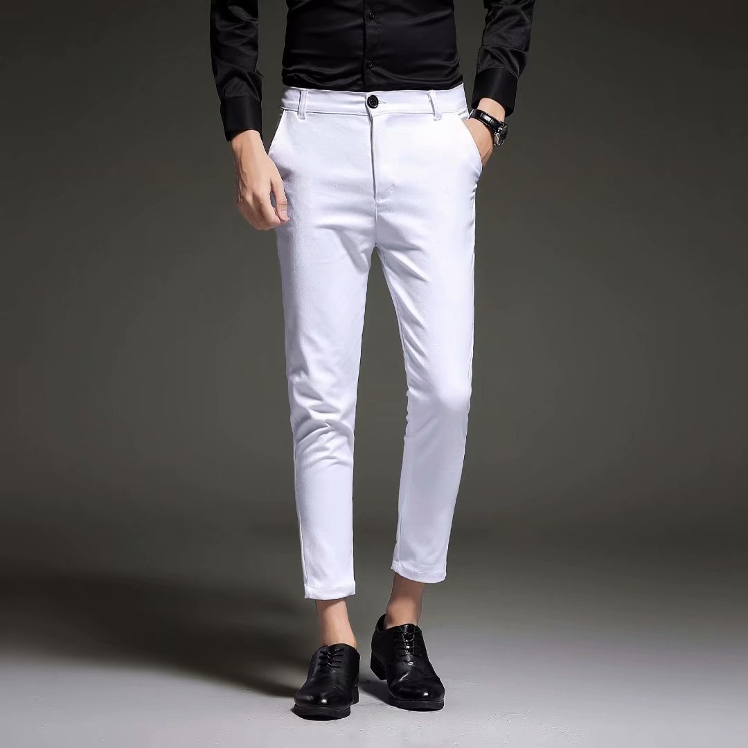 2018 Spring And Autumn New Style MEN'S Casual Pants Thin Skinny Pants Men Capri Pants MEN'S Trousers Korean-style Men'S Wear Amo