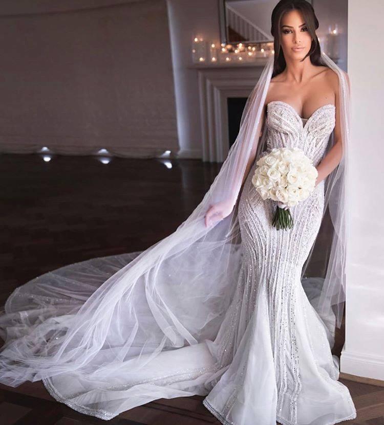 Vestidos De Novia 2020 Mermaid Wedding Dresses Elegant Sweetheart Strapless Wedding Gowns Custom Make Floor Length Bride Dresses