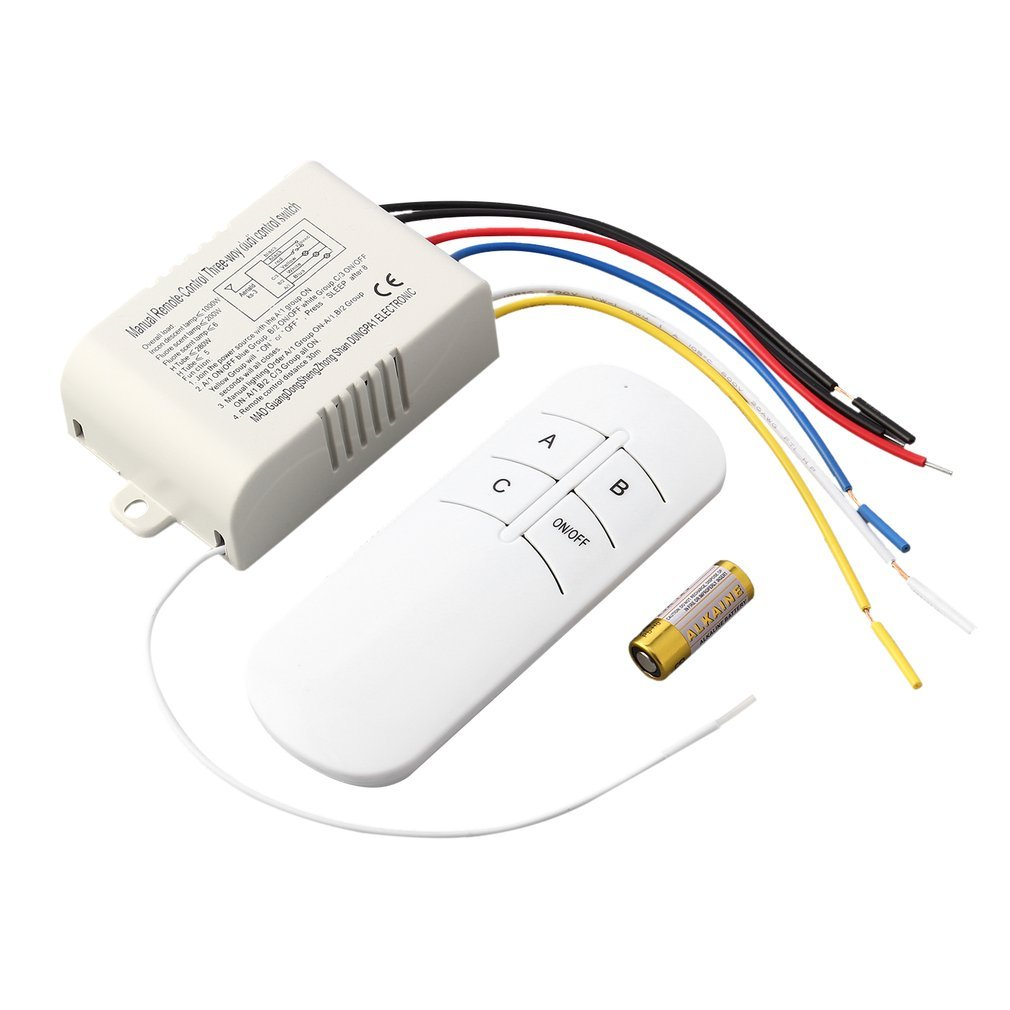 High Quality 220V 3 Way ON/OFF Digital RF Remote Control Switch Wireless For Light Lamp Worldwide Store