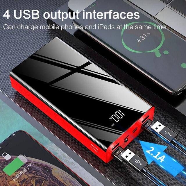 Batterie externe portative de 40000mAh pour Xiao mi 4 chargeur rapide de batterie dusb
