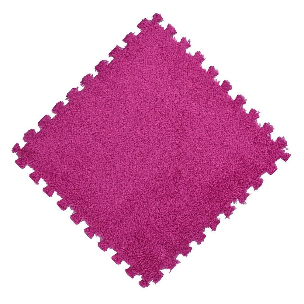 H038a591dc94c4cc8a6b33d2cc44d847bP Play Mats 25X25cm Kids Carpet Foam Puzzle Mat EVA Shaggy Velvet Baby Eco Floor 7 colors 10.30
