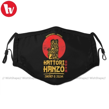 Kill Bill Mouth Face Mask Hattori Hanzo Facial Mask Fashion Funny with 2 Filters for Adult недорого